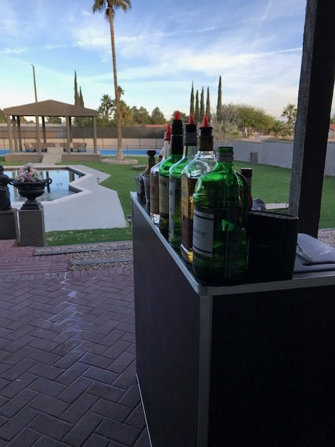 bar in backyard