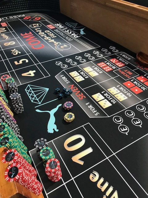 custom casino table felt